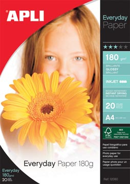 Apli fotopapier Everyday ft A4, 180 g, pak van 20 vel