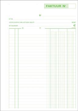 Exacompta facturen, ft 29,7 x 21 cm, tripli, verticaal, Nederlandstalig