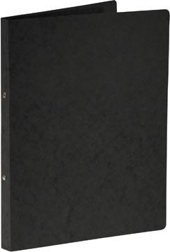 Bronyl ringmap, voor ft A4, uit glanskarton, 2 ringen van 16 mm, zwart