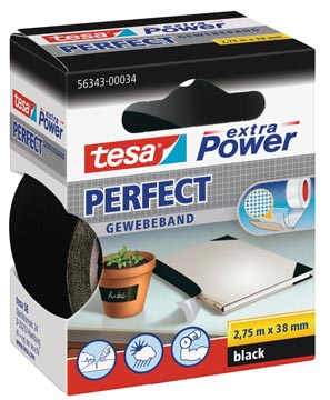 Tesa extra Power Perfect, ft 38 mm x 2,75 m, zwart