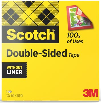 Scotch dubbelzijdige plakband ft 12 mm x 33 m