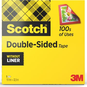 Scotch dubbelzijdige plakband ft 19 mm x 33 m
