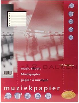 Multo muziekpapier voor ft A4, 23-gaatsperforatie