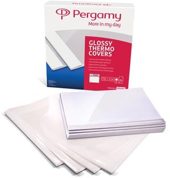 Pergamy thermische omslagen ft A4, 9 mm, pak van 100 stuks, wit