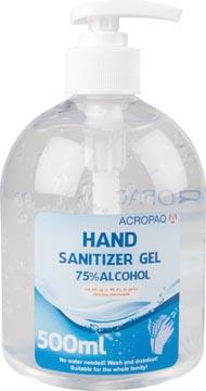 Desinfecterende handgel, fles van 500 ml