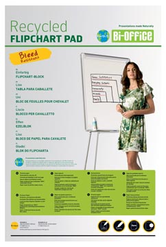 Bi-Office Papierblok voor flipcharts Earth-it